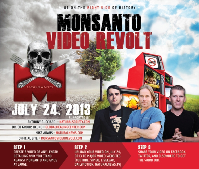 Monsanto Video Revolt: July 24th, 2013