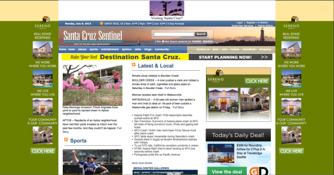 Santa Cruz Sentinel: Your Priorities Are Showing